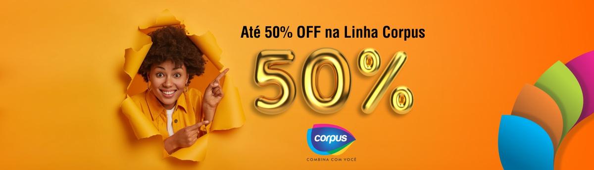 Banner Promoção Corpus Até 50%